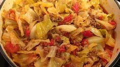 Unstuffed cabbage rolls made with ground beef, cabbage, and diced tomatoes are a family-pleasing main dish perfect for weeknights.