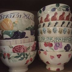 Emma Bridgewater Pottery French Footed Bowls...not vintage, but who cares