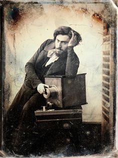 Gustave Le Gray, Self-Portrait, 1848 [read the story] from Nicéphore - Cahier de photographies