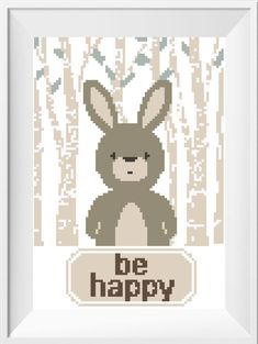 Baby Cross Stitch Pattern, Woodland Animals set Baby Shower Gift, Be clever Be brave Be kind Nursery Embroidery Set Fox Bear Bunny Deer DIY Baby Cross Stitch Patterns, Cross Stitch For Kids, Cross Stitch Animals, Cross Stitch Charts, Baby Patterns, Plastic Canvas Patterns, Stitch Design, Nursery Art, Cross Stitching