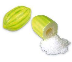 chicle de melon con acido dentro