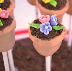 Flower Pot Cake Pops!