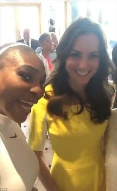 The Duchess of Cambridge is a regular in the royal box during Serena's Wimbledon matches. ...