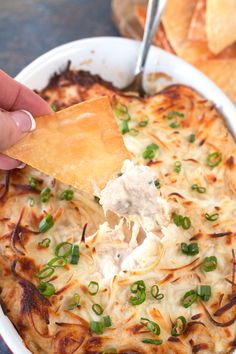 Crab Rangoon Dip and Wonton Chips. Easy and delicious Asian-inspired appetizer!