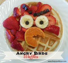 Angry Birds Waffles from TheJoysofBoys.com.