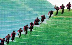 La cerimonia di apertura del festival internazionale delle risaie terrazzate di Longji, in Cina. (Chen Ruihua, Xinhua/Corbis)