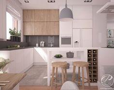 Aranżacje wnętrz - Kuchnia: Apartamenty Marymont - Średnia otwarta kuchnia w kształcie litery l w aneksie z oknem, styl nowoczesny - Progetti Architektura . Przeglądaj, dodawaj i zapisuj najlepsze zdjęcia, pomysły i inspiracje designerskie. W bazie mamy już prawie milion fotografii!