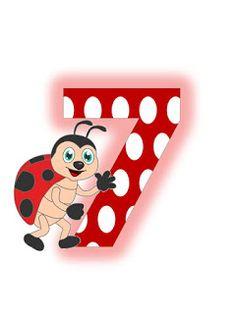 S.T.R.U.M.F.: Litere mari si cifre buburuze Drink Sleeves, Ladybug, Alphabet, Collage, Nursery, Ursula, Gifs, Flower, Ladybugs