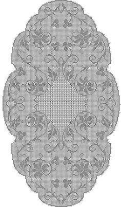World Crochet: Tablecloth 169 - Diy Crafts Crochet Table Runner Pattern, Crochet Doily Patterns, Crochet Tablecloth, Crochet Motif, Crochet Doilies, Crochet Buttons, Crochet Shirt, Thread Crochet, Crochet Scarves