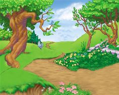 """Photo from album """"Detskie-Fony"""" on Yandex. Kids Background, Scenery Background, Background Clipart, Cartoon Background, Landscape Background, Scenery Pictures, Nature Pictures, Backdrop Frame, Backdrops"""