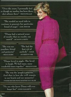 Quotes about Diana.