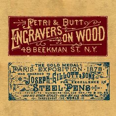 The Stationers Project is 10 8x8 prints of restored ads and Victorian-inspired palettes from the 1800s.  By Keith Tatum #typehunter