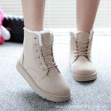 Combat boots nữ lót lông, thắt dây khỏe khoắn, phong cách cá tính