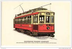 Tranvía de Baltimore MD 1919, USA