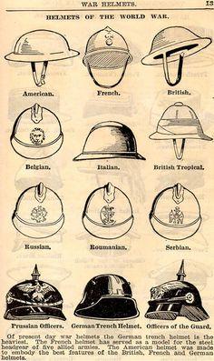 Casques de la Première Guerre mondiale