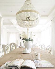 Ro sham beaux orbit chandelier Beaded chandelier & Dining Room Chandelier Brightens Up Industrial Loft | Pinterest ...