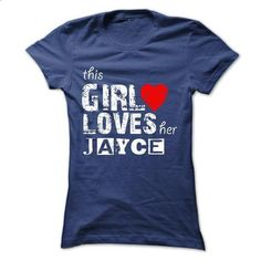 THIS GIRL LOVES HER JAYCE 2015 DESIGN - #wet tshirt #sweater weather. CHECK PRICE => https://www.sunfrog.com/Names/THIS-GIRL-LOVES-HER-JAYCE-2015-DESIGN-Ladies.html?68278