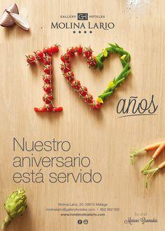 Cartel 10 aniversario Molina Lario #10aniversariomolinalario