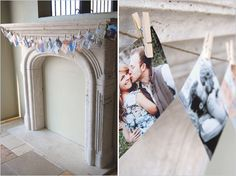 easy ways to display photos at wedding