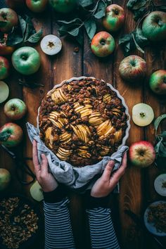 Making this for breakfast this weekend! This Apple Walnut Yogurt Coffee Cake recipe is the perfect fall sweet breakfast or afternoon snack. Serve it with a cup of coffee or peppermint tea.  | Pinterest: Natalia Escaño