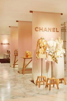 Chanel cruise pop-up at nordstrom visual merchandising магаз