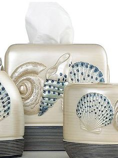 Hampton Shells Tissue Box Cover