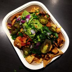 Treat meal nachos to share - only half as bad that way!