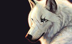 Fonds d'écran Art - Numérique > Fonds d'écran Animaux Loup blanc par bawa - Hebus.com