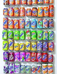 Fanta cans collection of Alona Gur Kit Kat Flavors, Fanta Can, Carbonated Drinks, Japanese Snacks, Pepsi Cola, Pop Bottles, Starbucks Drinks, Mini Foods, Dessert Drinks
