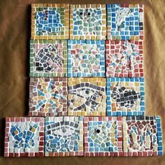 mosaicos con teselas Quilts, Blanket, Mosaics, Manualidades, Blankets, Patch Quilt, Kilts, Log Cabin Quilts, Comforter