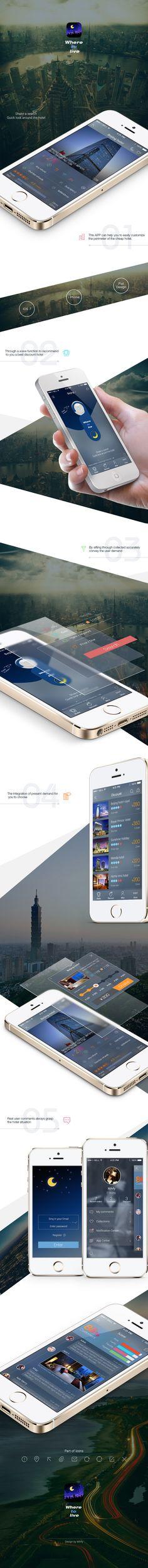 Where to live for iO. Ui Ux Design, Interface Design, User Interface, Android Design, User Experience Design, Screen Design, App Ui, Mobile Ui, Landing