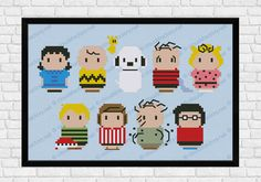 Peanuts parody  Cross stitch PDF pattern