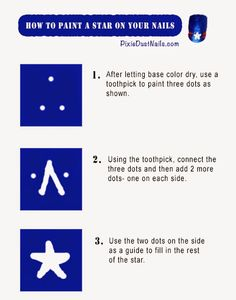 How to Paint a Star on Your Nails- Pixie Dust Nails