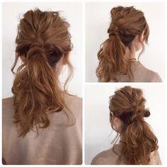 ざっくり1つ結びアレンジ☝️ ゴム3つ、ピン1本でできます✨ #セルフアレンジ#ヘアアレンジ#簡単アレンジ#5分アレンジ#5分ヘアアレンジ#ヘアアレンジ解説#ヘアアレンジプロセス#ヘアアレンジやり方#ポニーテールアレンジ#ロカリヘアアレンジ#1つ結びアレンジ#やり方後で載せます Hair Arrange, Japanese Hairstyle, Dreadlocks, Long Hair Styles, Hairstyles, Beauty, Fashion, Haircuts, Moda