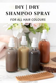 Do homemade dry shampoos leave a white cast on your hair? Learn how to make a natural DIY dry shampoo spray for ALL hair colours, even dark hair. Homemade Dry Shampoo, Homemade Hair, Homemade Conditioner, Hair Conditioner, Remove Unwanted Facial Hair, Unwanted Hair, Hair Care Recipes, Hair Cleanse, Diy Hair Care