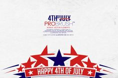 Check out 4th Of July - ProBrush™ + Vectors by Leonard Posavec on Creative Market