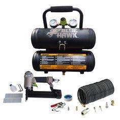 Blue Hawk 0.3-HP 2-Gallon 125-PSI 120-Volt Twin Stack Portable Electric Air Compressor