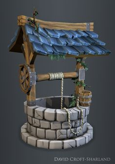Hand Painted Well by DavidCroftSharland on deviantART