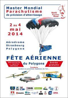 Master mondial de parachutisme. Du 2 au 4 mai 2014 à Strasbourg.