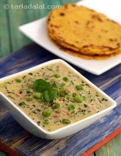Methi and mutter are a super-hit combination as their flavours complement each other well. Add to this a fragrant masala paste, an even more zestful freshly-ground dry masala, tangy tomato pulp and all, and you have an irresistible methi mutter malai on the table.