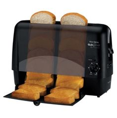 West Bend Quik Serve Toaster Black Small Kitchen Appliances Sliced Bread NEW Cool Kitchen Gadgets, Home Gadgets, Cooking Gadgets, Gadgets And Gizmos, Cool Kitchens, Geek Gadgets, Cooking Utensils, Kitchen Tools, Small Appliances