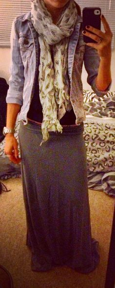 Maxi Skirt In The Fall - Apostolic Clothing Pentecostal