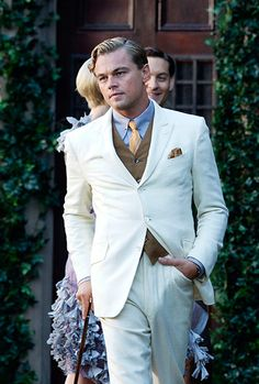 Leonardo DiCaprio on the set of The Great Gatsby