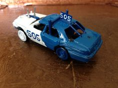 Replica 1:64 Ford Crown Vic demo derby car built by Sticks Custom Derby Shop   Check out my FB page and eBay items