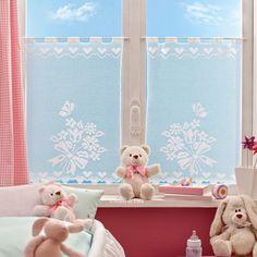 Schema per tende, uncinetto filet Filet Crochet Charts, Crochet Curtains, Cushions, Pillows, Doilies, Kids Room, Toddler Bed, Upholstery, Crochet Patterns