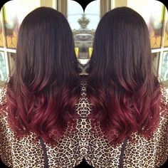 Next color. Deep red ombré. Fall