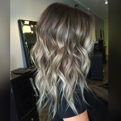 Ash blonde balayage ombre