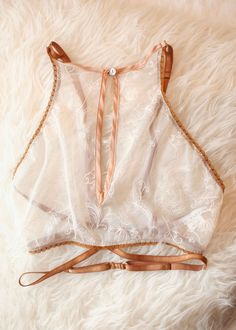 LIMITED EDITION Luna Embroidered Crop Cami in Honey Blush