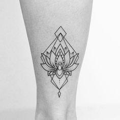#ink #tattoo #lotus #flower #geometric                                                                                                                                                                                 More