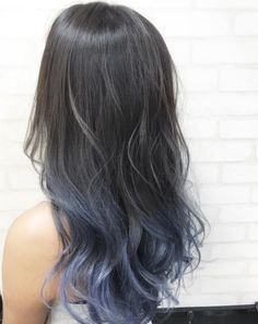 stunning #ombre hairstyle in blue. can use instant hair color spray